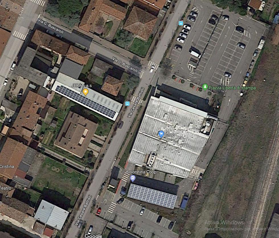 Jera l'azienda ad Impatto zero tetto fotovoltaico con 82 pannelli